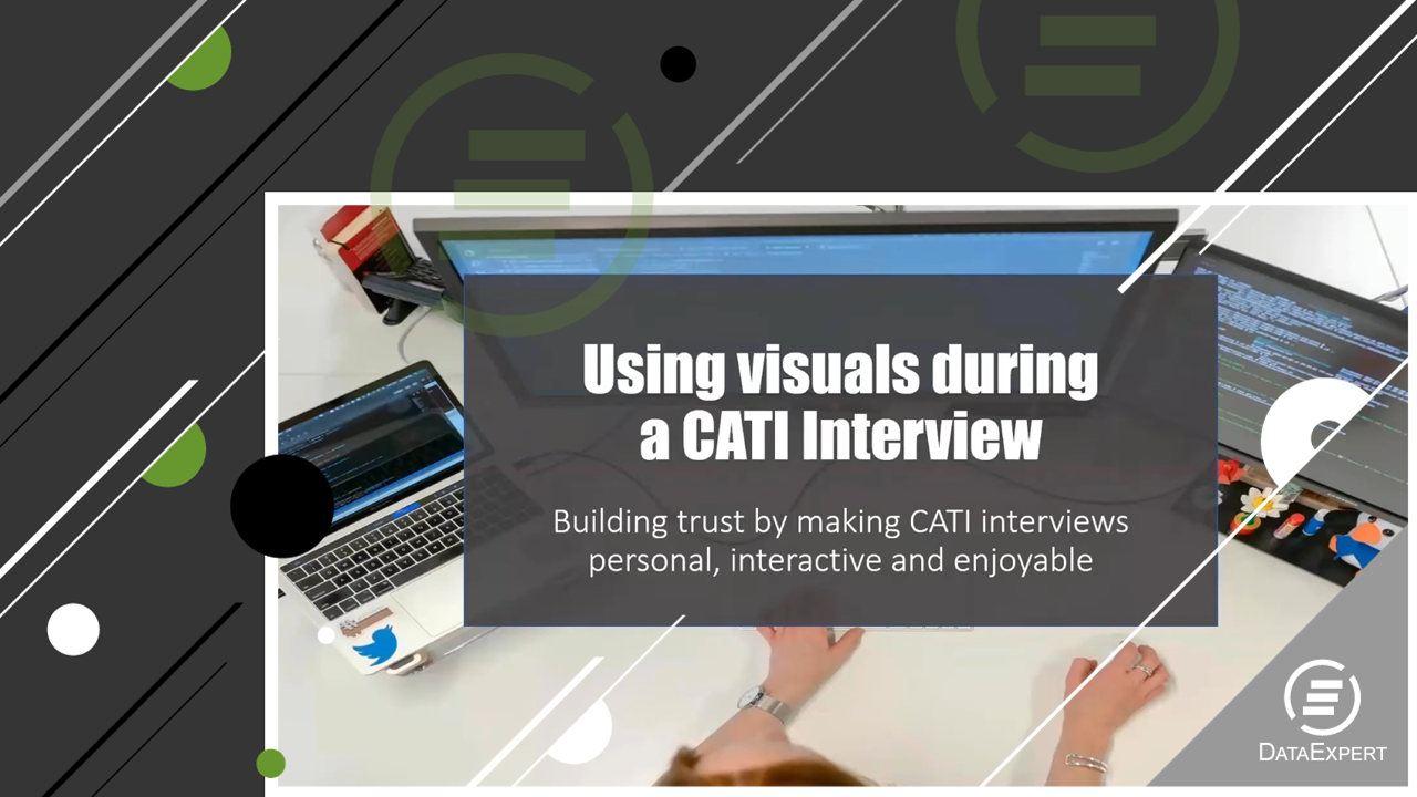 Using visuals during a CATI Interview
